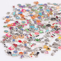 Wholesale Mix New Little Charms Beads Accessories Floating Locket Charms For DIY Necklace Bracelets Stainless Steel Jewelry