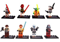 Wholesale opp packing Sets of MiniFigures STAR WARS Series Building Toys New Blocks Vintage LEBQ building block
