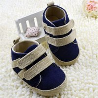 Wholesale New Arrivals Kids Baby Boy s Children s First Walker Shoes M Cotton Fabric Soft Bottom KA29