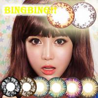 big star - Bingbing Star Cake Contact lenses Color Eye Lens Corlored Black Eye Gray Brown Blue Pink Chocolate Eye Lens