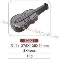 Cheap Free Shipping 12 Hole Violin Shape Chocolate Molds Clear Hard Plastic Chocolate Moulds Candy Cake Chocolate Tools Molds CM-100