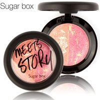 baking delivery - Sugar box Brand Baked Blush multicolor Facial makeup palette color optional Free delivery blush brush