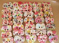 wooden hearts - Cute Design Heart Shaped Painted Hole Wooden Buttons mm x22mm Pack Of Sewing accessory