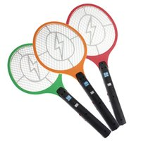 Wholesale Rechargeable LED Electric Insect Bug Fly Mosquito Zapper Swatter Killer Racket layer Net Safe
