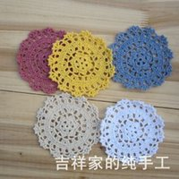 Cheap Free shipping 2014 new fashion 30 pic lot colorful fabric doilies felt as innovative item felt pad props coasters placemats pads