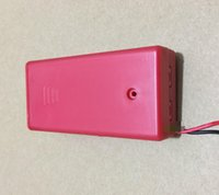 Wholesale Red Yellow AA Battery Storage Box With Cover Swtich AWG Wire cm