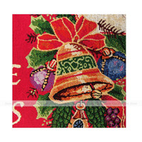 Wholesale YEVITA Jingle Bells Polyester Cotton Table Runner Holiday Tapestry Red quot x70 quot