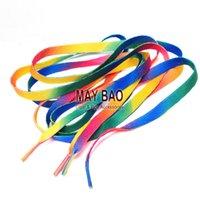 Cheap Rainbow Shoelaces Stripes Gay Pride Rockabilly Punk Shoe lace Skater Boho Rad Hipster Hobo Rasta Striped Shoelaces
