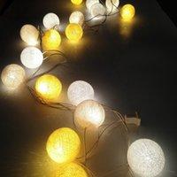 christmas tree led - 20 LED Mutil Color Cotton Balls String Lighting Christmas Tree Decoration Fairy Lights