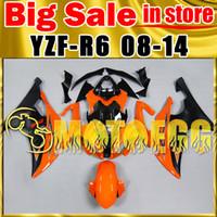Wholesale Big Sale Motoegg Fairings Bestselling Injection Mold Kits For Yamaha YZF R6 YZF R6 YZFR6 Complete Set Orange Black JW156157
