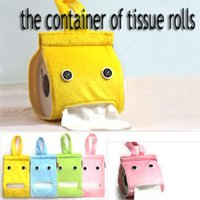 beautiful cleaning materials - tissue roll napkin cartoon cover holder clean tidy linter material beautiful decoration say hi HU