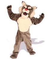 bengal free - 2016 Brown bengal tiger cat Mascot Cartoon EVA Costume Animal Fancy Dress Halloween Costumes EMS