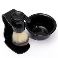 best abs stand - New Arrival Mens Shaving Tool Set Best Badger Bristle Hair Shaving Brush Bowl Mug Drip Stand ABS Bowl