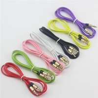 Wholesale 3 mm Male to Male Audio cable Car Extension AUX Cord Leads for Mobile phone ipod ipad computer