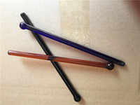 Wholesale ECO friendly Hot Bar hotel supplies multifunctional coffee Drink Juice Colorful Glass stirring rod