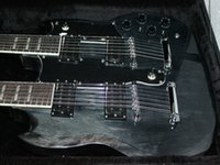double neck guitar - Custom Double Neck Guitars Factory gray strings strings Double neck electric guitar