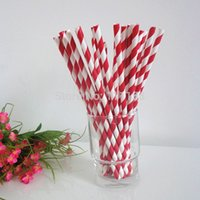 Wholesale Mix Color Striped Chevron And Polka Dot Paper Straws For Party Colorful Drinking Paper Straws With OPP Bag Package