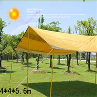 Wholesale 4 cm sun shelter ultraviolet proof Ad tent for car or people shelter beige gray patchwork outdoor camping accessories