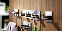 Wholesale The stainless steel door non trace kitchen bathroom towel coat coat hanger hook sucker hook