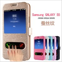 plastic magnetic - 200pcs Ultra thin Magnetic Button Flip Leather Case Phone Shell Cover for Samsung Galaxy S4 S5 NOTE2 NOTE3 protective sleeve flip holster