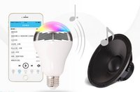 usb rgb - MOQ1PCS Cheapest Creative APP Control Speaker Wireless Control Speaker LED RGB Colored Bulb Light Lamps E27 D5528B Bluetooth Mini Speaker