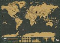 Wholesale 140pcs Deluxe Scratch Map Deluxe Scratch World Map cm
