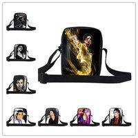 Wholesale Hot Sale Trendy Super Star Michael Jackson Character Print Messenger Bags Boys Men Casual Bag Student Clutch Bags