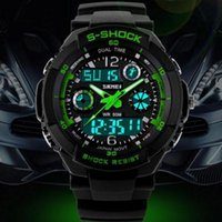 Wholesale Mens Sports Wrist Watches Waterproof Military Swimming Dive Watch Time Zone Analog Digital LED Quartz Chronograph Silicone Colors Watch