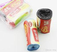 Wholesale New material colored Garbage bags trash bag roll cm dedicated loading trash bags Cleaning products LJD3