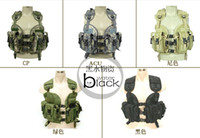 airsoft ranger - tactical Army combat camouflage Vest with Holster Pouch Molle water bag for military LBV outdoor Ranger fans CS airsoft huting wargame