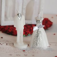 Wholesale Wedding candles for the bride and groom candle wedding in return the candle wedding supplies The bride wedding candles