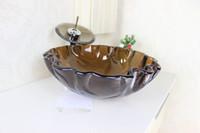 bathroom vessel sink cabinets - Victory bathroom basin glass basin wash basin vessel sink wash sink bathroom cabinet sink N