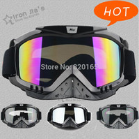 Wholesale High quality Black Motorcycle Bike ATV Motocross Ski Snowboard Off road Goggles FITS OVER RX GLASSES Eye Lens Chin Accessories