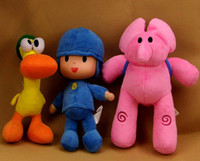 Wholesale New inch cm PATO Pocoyo ELLY PATO Soft Plush Stuffed Figure Toy Doll Set