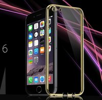 clear cover lens - Full Protection Ultrathin Transparent Clear Cases Soft TPU Gel Skin Back Cover lens protectors Case With Dust plug For iphone plus DHL