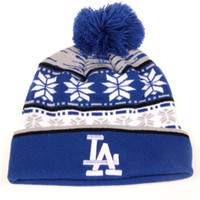 angeles knits - 2015 Hot New MLB Los Angeles Dodgers Beanie LA Dodgers hat knit cap For Women And Men Warm Woolen Hats hip hop hat
