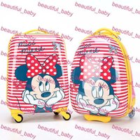 Wholesale Hot Sale Children Backpack Pull Rod Bags Travel Thermal Bag Kids Cartoon ABS Child School Bags with Wheels