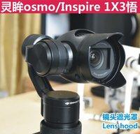 abs camera - DJI osmo Accessories Lens glare blackout visor lens cap Remote Control Aircraft ABS camera lens hoods for DJI osmo and inspire