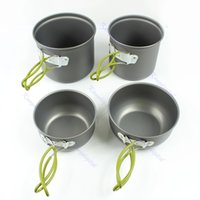 Wholesale Hot Sale set Outdoor Camping Hiking Cookware Set Backpacking Cooking Picnic Bowl Pot Pan Set