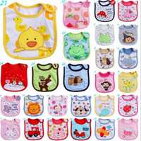 baby peach pictures - Cartoon Infant saliva towel layer Baby Waterproof bibs cotton apron handkerchief various animal picture to chose