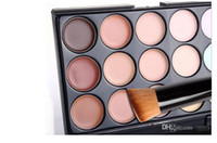 army face camouflage - Cosmetic Salon Party Colors Camouflage Palette Face Cream Makeup Concealer Palette Make up Set Tools With Brush new