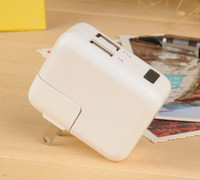 al por mayor cámaras de vigilancia del reino unido-Cargador de pared Adaptador de corriente AC nuevo Full HD 1080P de EU / US / UK enchufe del cargador USB espía cámara oculta Mini DVR de vigilancia de seguridad cámara estenopeica