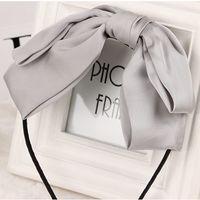 asian silk fabric - Fashion Women Headbands Hairpin Headwear Bistratal Silk Fabrics New Korean Style Big Bowknot Hyperbolic Birthday Gifts