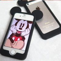 Wholesale For iPhone S plus Mickey Head Protective Bumper Case Cover Shell Silicone Sleeve Border Mickey Mouse Ears Accessory