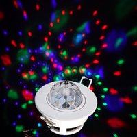Wholesale New W Colorful RGB Laser Strobe LED Rotating Moving Head Ceiling Stage Lights DMX DJ Disco party order lt no track
