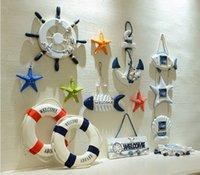 anchor wall decoration - The Mediterranean mural pendant rudder anchor starfish ring wall decoration