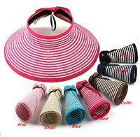 Wholesale New Style Classical Double Color Design Summer Hats Adult Empty Straw Hat Women Summer Caps Beach Hat