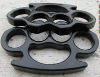 Wholesale 2 Defense combat weapons BLACK BRASS KNUCKLES DUSTER mm Self defense equipment easy to carry