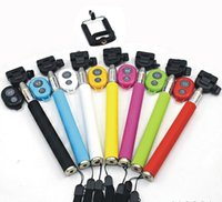 Wholesale Z07 Extendable Handheld Monopod selfie Stick cell phone Clip holder Bluetooth Remote Shutter For iPhone Samsung Smartphone DHL ZKT