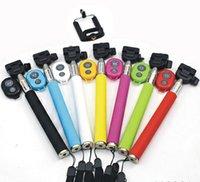 Universal wireless monopod - Z07 Extendable Handheld Monopod selfie Stick cell phone Clip holder Bluetooth Remote Shutter For iPhone Samsung Smartphone DHL ZKT